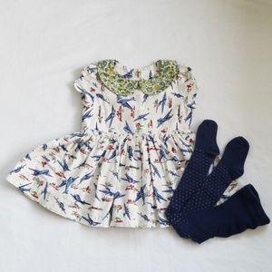 FLEUR + DOT Handmade Collared Airplane Dress